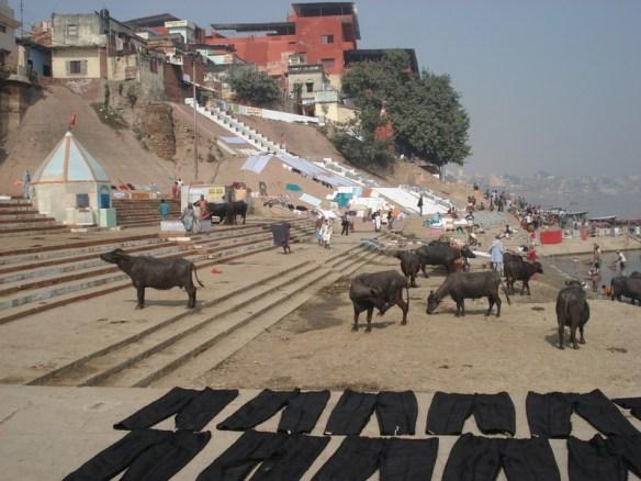 Sivala ghat. O maior deles, tão grande que desmoronou e tiveram que reconstruir