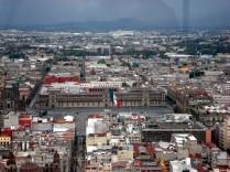 Vista do Palácio Nacional (Zócalo) visto da Torre